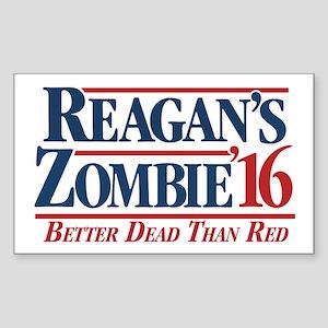 Reagan's Zombie For President Sticker