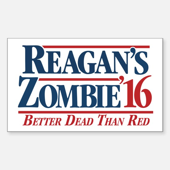 Reagan's Zombie For President Decal