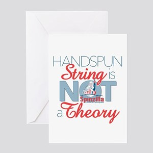 Handspun String Is Not A Theory Greeting Cards
