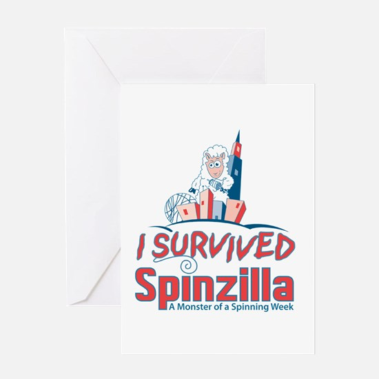 I Survived Spinzilla Greeting Cards