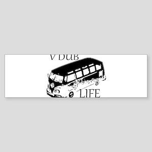 vdub life v w camper van travel Bumper Sticker