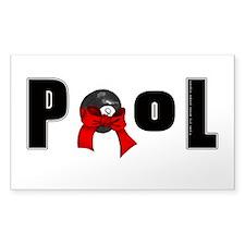 8 ball pool Sticker (Rectangle 10 pk)