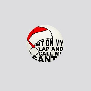 Santas lap Mini Button