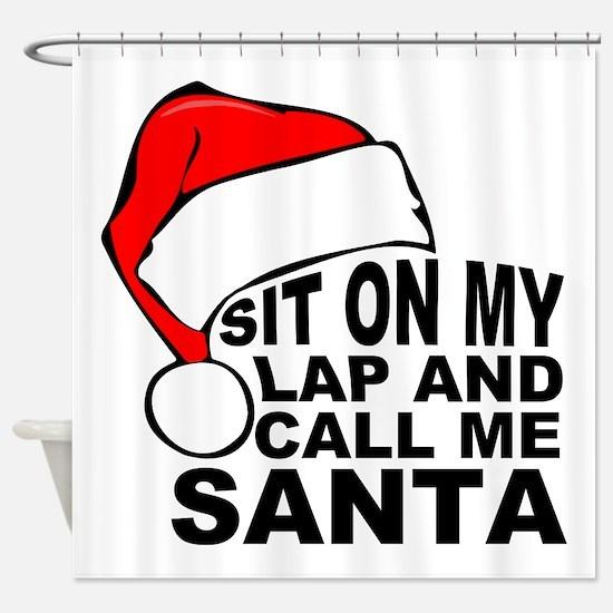 Santas lap Shower Curtain