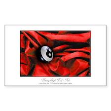 8 Ball Red Velvet Sticker (Rectangle 10 pk)