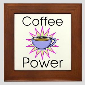 Coffee Power Framed Tile