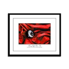 8 Ball Red Velvet Framed Panel Print
