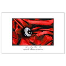 8 Ball Red Velvet Large Poster