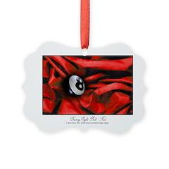 8 Ball Red Velvet Ornament