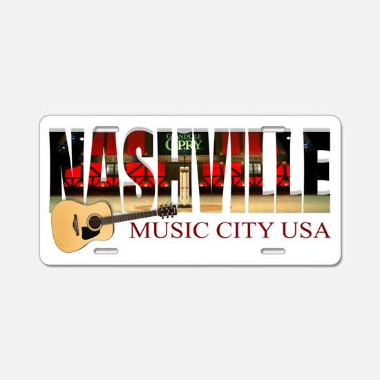 Nashville Music City USA Aluminum License Plate