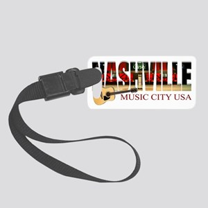 Nashville Music City USA Small Luggage Tag