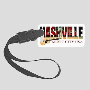 Nashville Music City USA Small Luggage Tag