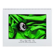 8 Ball Green Satin Wall Calendar