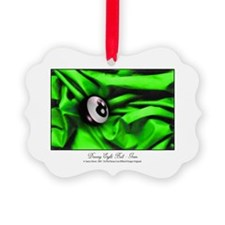 8 Ball Green Satin Picture Ornament