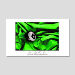 8 Ball Green Satin 20x12 Wall Decal