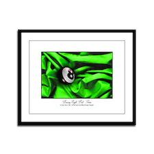 8 Ball Green Satin Framed Panel Print