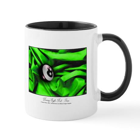 8 Ball On Green Satin 11 oz Mug