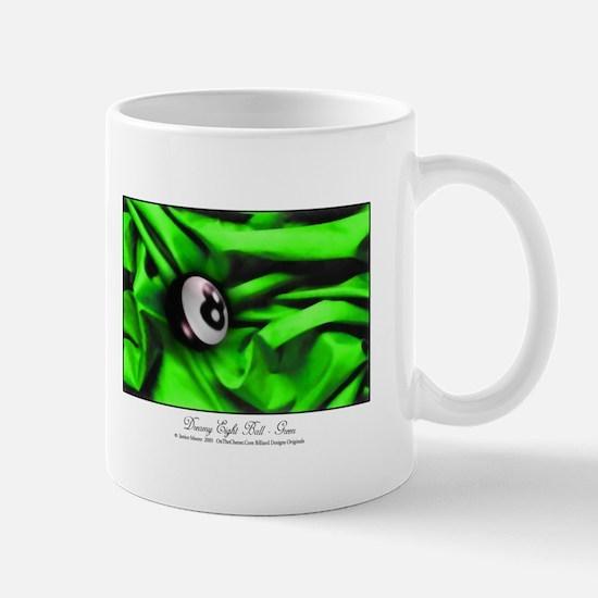 8 Ball Green Satin Mug