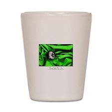 8 Ball Green Satin Shot Glass