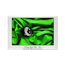 8 Ball Green Satin Rectangle Magnet