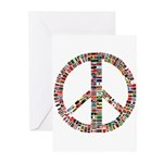 peaceflag Greeting Cards