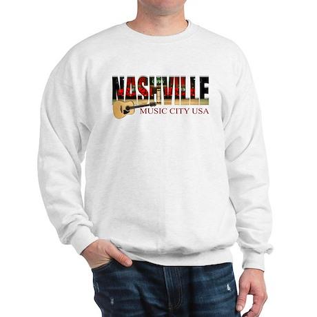 Nashville Tennessee Sweatshirt - Guitar Sweatshirt - Country Music - Rock Music - Acoustic Music Shirt tgCixIP5