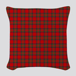 Royal Stewart Tartan Woven Throw Pillow