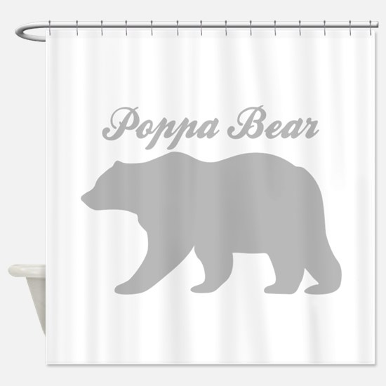 Poppa Bear Shower Curtain