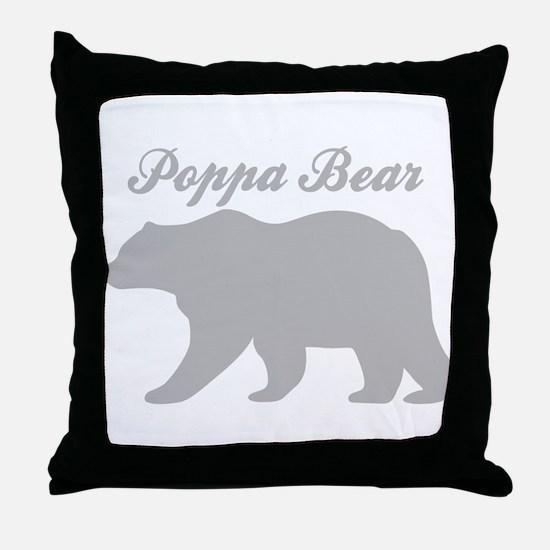 Poppa Bear Throw Pillow
