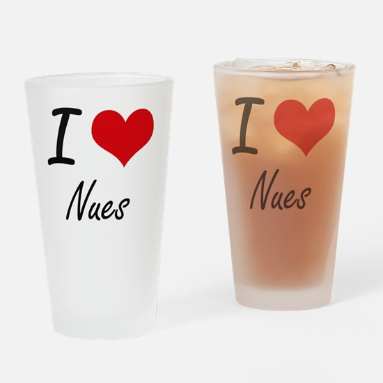 I love Nues Drinking Glass