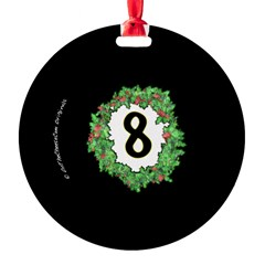 8 Ball Christmas Wreath Ornament