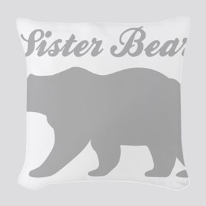 Sister Bear Woven Throw Pillow