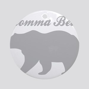 Momma Bear Round Ornament