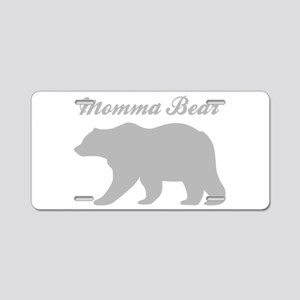 Momma Bear Aluminum License Plate