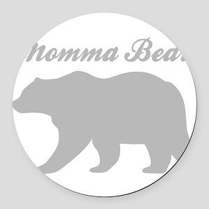 Momma Bear Round Car Magnet