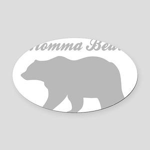 Momma Bear Oval Car Magnet