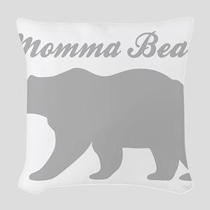 Momma Bear Woven Throw Pillow