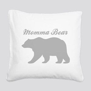 Momma Bear Square Canvas Pillow