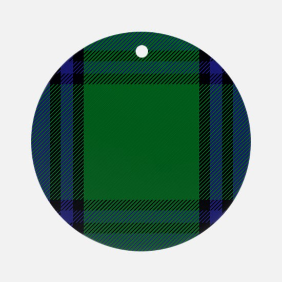 Shaw Scottish Tartan Round Ornament