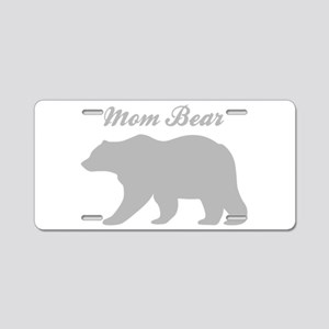 Mom Bear Aluminum License Plate