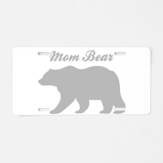Mom Bear Aluminum License Plate