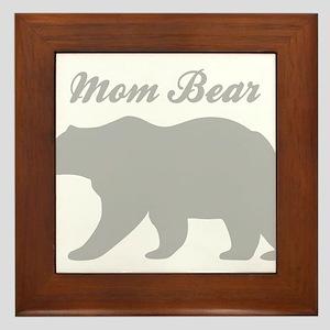 Mom Bear Framed Tile