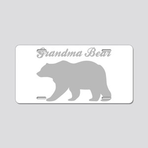 Grandma Bear Aluminum License Plate