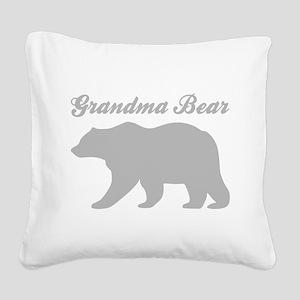 Grandma Bear Square Canvas Pillow