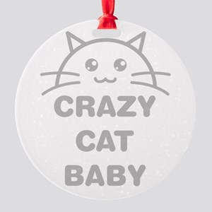 Crazy Cat Baby Ornament