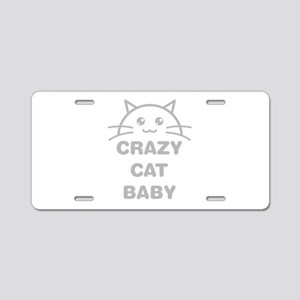 Crazy Cat Baby Aluminum License Plate