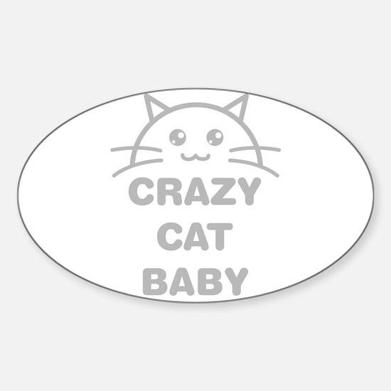 Crazy Cat Baby Decal