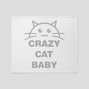 Crazy Cat Baby Throw Blanket