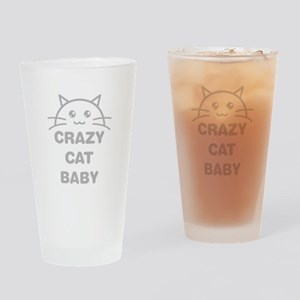 Crazy Cat Baby Drinking Glass