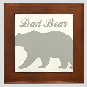Dad Bear Framed Tile